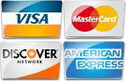 We proudly accept Visa, Mastercard, Discover and American Express.
