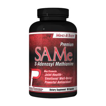 Packaging or Promotional image for SAMe S-Adenosyl Methionine